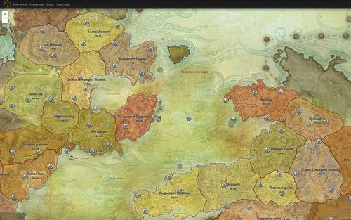 Интерактивная карта в ArcheAge